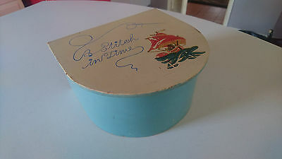 "Vintage Wood Small Worktop ""a Stitch In Time"" Hand Decorated Sewing Storage Box"
