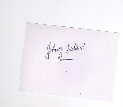 Rangers/South Africa Johnnie Hubbard  HAND SIGNED card