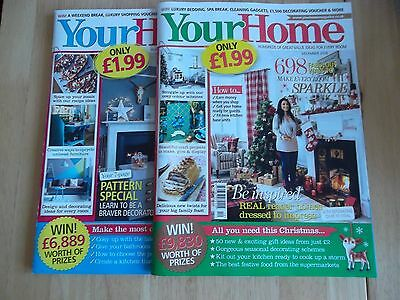 2 x Your Home Monthly Magazine Nov & Dec 2016