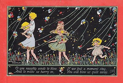 PHYLLIS COOPER Naughty Winds blow HAPPY LAND series 2, posted 1925 pb: TUCK 3464