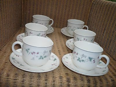 Royal Doulton Expressions Strawberry Fayre 6 cups/saucers English china quality