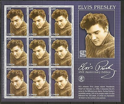 Liberia 2000 Elvis Presley - 25th Anniversary Edition - Miniature Sheets .MNH