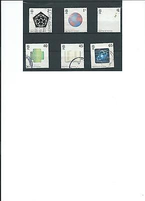 Gb Used Set Stamps Centenary Of Nobel Prizes 2001 Qe11