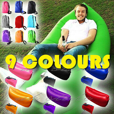 Inflatable Air Sofa Lounger Bed Hiking Camp Sleeping Bed Waterproof Bean Bag UK