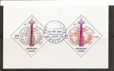Haiti SC # C202a Seattle International Exposition. Imperforated MNH