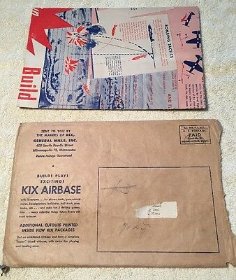 Kix Airbase Cereal Box Game General Mills-1940s-Awesome With So Much There!