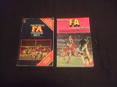 2 Official FA Yearbooks 1976/77 & 1977/78