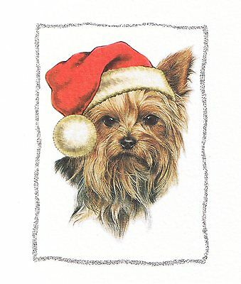 Xmas YORKIE dog featured on a FRIDGE MAGNET