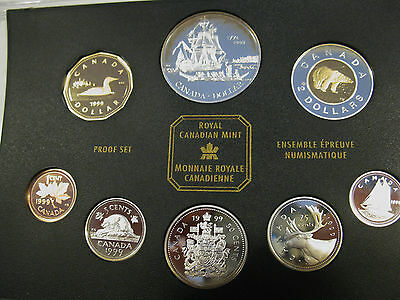 1999 Canada 8 Coins Sterling Silver Proof Set