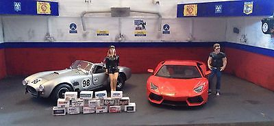1/24 scale diorama garage Branded Boxes #SET 1