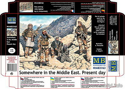 Master Box Model kit 1/35 Somewhere in the Middle East - Present Day (5 figures)