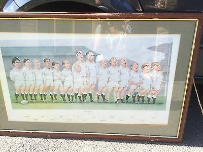Large Rugby Union Print Grand Slam 1991