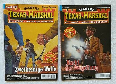 4 X Texas- Marshal,  Nummer 100, 102 , 97, 98 TOP-Zustand