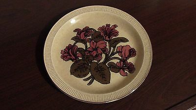 Poole Pottery Broadstone Plate Cyclamen 21cm Diameter