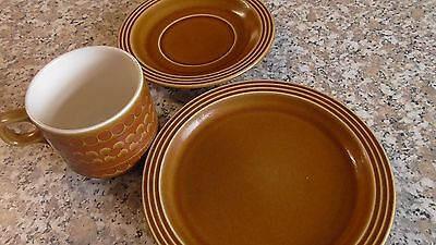 Vintage/Retro Hornsea Pottery Saffron Cup,Saucer,SidePlate Trio 1970,s