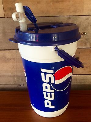 Vintage Retro Extra Large Pepsi Whirley Sharing Jug Cup Pitcher Lid & Straw