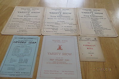 Wartime Troop Variety Programmes x 6 (+ 3 others) 1945