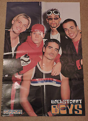 Poster Backstreet Boys BSB Top of the Pops Magazine 1990's