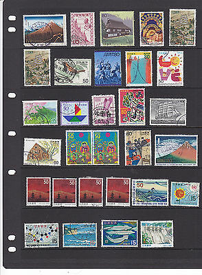 Japan Collection On 4 Clean Hagners: 150+ Stamps