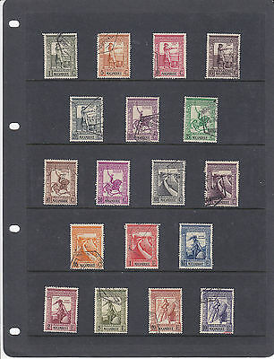 Portugese Mozambique Sg351-368 Nice Used: 1938