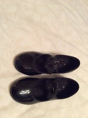 Little Girls Black ABT Spotlights Tap Dance Shoes Size 11 worn some