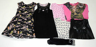 Girls Clothes Bundle Age 5-6 years H&M Ted Baker Bird Dress Cat Skirt Tops Set