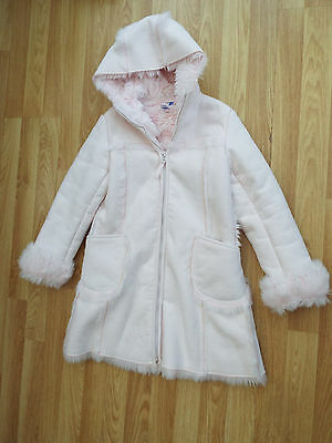 Debenhams Jasper Conran Pink Girls Winter Coat Age 7 - 8 Years