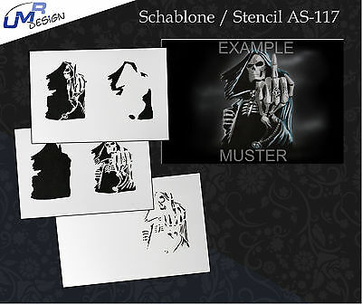 Step by Step Stencil ~~ UMR Airbrush Schablone AS-117 M