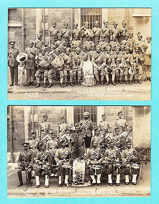 Two Photo Postcards RPPC Band of HM Indian Army Glen Durdnam Down Military Music