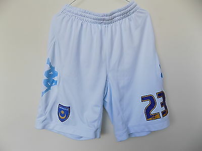 player issue portsmouth fc home football shorts by kappa size xxl