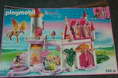 Playmobil Princess Castle with extra sets.