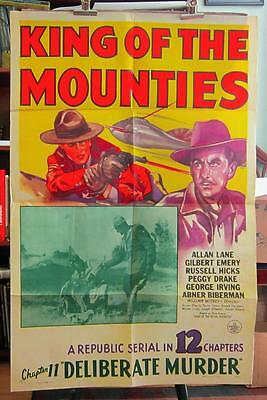 1942 KING OF THE MOUNTIES Chapter 11 One-Sheet Serial Movie Poster WWII SCI-FI