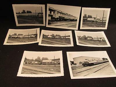 Sparks Circus Group 8 Vintage B&W Photographs Circus Cars & Containers on Train