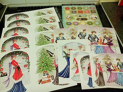 Craft Clear Out Hunkydory Art Deco Christmas Toppers Card Making New
