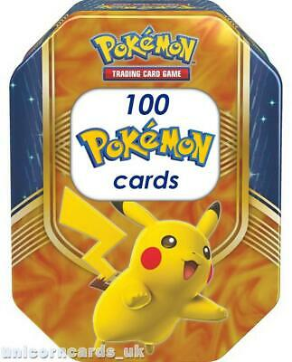 Pokemon Collector Tin V With 100 Mint And Original Pokemon Cards + Pin + Coin