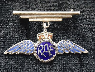 STERLING SILVER AND ENAMEL  BROOCH  RAF  Royal Air Force