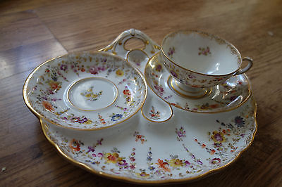 vintage dresden cup and saucer tray