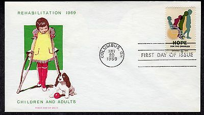 1969 Easter Seals Bring Hope To The Crippled- Jackson Overseas Mailers FDC P215A