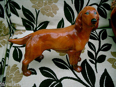 Dog Red Setter Coopercraft Large Size Standing Gloss Vgc Rare