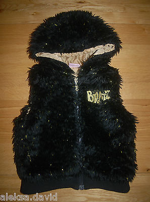 BRATZ 6 years girls BLACK BODYWARMER*GILET WITH GOLD!  *next day post!
