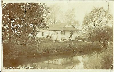 Syston The Bungalow Posted Syston 1912 Real Photo Postcard