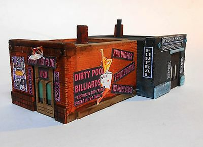 """Downtown Deco New in N Scale """"Easy Come, Easy go"""" XXX Club + Funeral Home."""