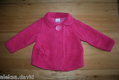 NEXT 2-3 years girls RASPBERRY PINK JACKET*COTTON LINING! *next day post!