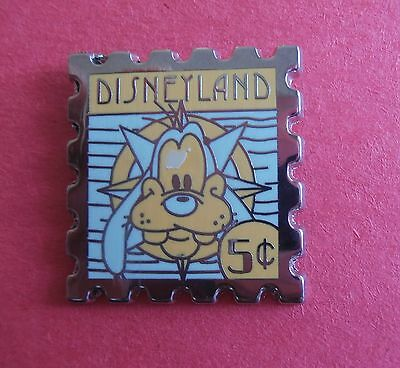 Goofy Disneyland 5 Cent Stamp Hidden Mickey  Disney Pin