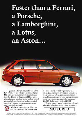 Mg Maestro Turbo Mg Turbo Retro Poster A3 Print From Classic 80's Advert
