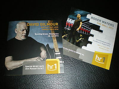 2 RARE German only PROGRAMME Roger Waters 2013 + DAVID GILMOUR 2016 - PINK FLOYD