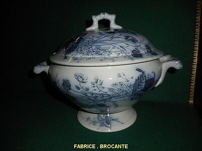 Soupiere En Porcelaine Decor Fleural