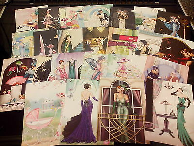 Craft Clear Out 24 X Prints From Hunkydory Book  Of Deco Shimmer  Card Making