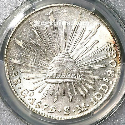 1879-Go PCGS MS 62 MEXICO Silver 8 Reales Flashy Lustrous Coin (16120403C)