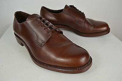 VINTAGE 1960s SUPER REGENT HIGH QUALITY BROWN LACE UP ENGLISH MADE SHOES SIZE 9